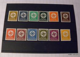 GERMANY 1934. Dienstmarke Deutsches Reich. Swastik Symbol, 12 MNH Stamps. - Duitsland