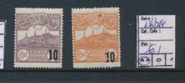 SAINT MARIN SASSONE 213/214 MNH - Unused Stamps