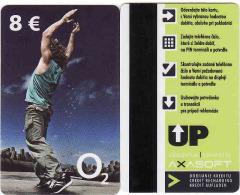 Slovaquie-Slovakia, Recharge Telefonica O2 Mobile Phonecard 8 €, Magnetic Card - Plastic - Slowakije