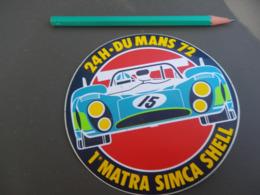 Autocollant - MATRA SIMCA SHELL - 24H DU MANS 72 - Stickers