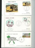 3 Journées Du Timbre Sur Enveloppe à N°....années....1979 / 80 / 82 ....à Voir - Ivoorkust (1960-...)