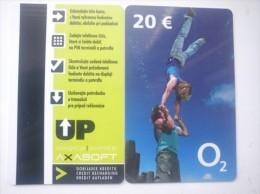 Slovaquie-Slovakia, Telefonica O2 Mobile Magnetic Plastic Card 20€ - Slowakije