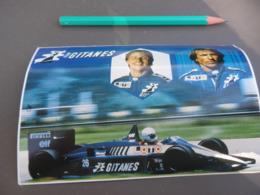 Autocollant - Formule 1 - F1 - LIGIER GITANES - GP BELGIQUE 1986 - ARNOUX LAFFITE - Carte Postale - Autocollants