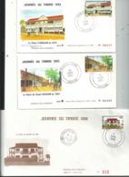 3 Journées Du Timbre Sur Enveloppe à N°....années....1983 / 84 Signée / 88 ....à Voir - Ivoorkust (1960-...)