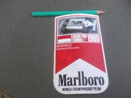 Autocollant - Formule 1 - F1 - MONACO 1980 MAC LAREN MARLBORO - Adesivi