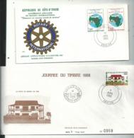 4 Premiers Jours (dont  2 Enveloppes à N°.)...années....1983 / 84 Signée / 85 / 88 ....à Voir - Ivoorkust (1960-...)