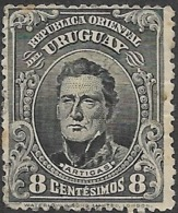 URUGUAY 1910 Artigas - 8c - Blue FU - Uruguay
