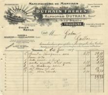 MANUFACTURE De MONTRES Alphonse Dutrain 5 Rue Bayard Toulouse AURORE 24 Juin 1915 - Frankreich