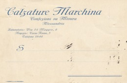 9562-CALZATURE MARCHINA - CONFEZIONI SU MISURA - ALESSANDRIA - 1931-FP - Pubblicitari