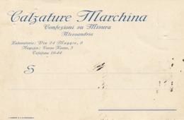 9562-CALZATURE MARCHINA - CONFEZIONI SU MISURA - ALESSANDRIA - 1931-FP - Publicité