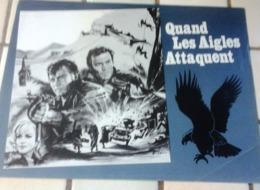 """Dossier De Presse """"Quand Les Aigles Attaquent"""" Clint Eastwood Richard Burton - Pubblicitari"""