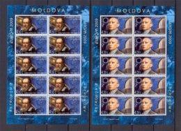 "MOLDAVIA / MOLDOVA /MOLDAWIEN / MOLDAU  -EUROPA 2009  -TEMA  ""ASTRONOMIA""- TWO SHEETLETS Of 10 STAMPS PERFORATED - Europa-CEPT"