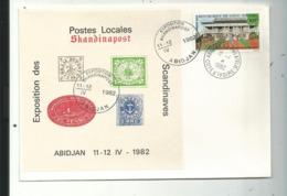 Rare Bloc D'exposition  SKANDINAPOST..à Abidjan 1982..+ PREMIER JOUR 1982.........à Voir - Ivoorkust (1960-...)