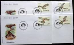 Denmark 2004  Birds Of Prey    MiNr.1383-86  ( Lot Ks) FOGHS COVER - FDC