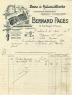 Fers & Quincaillerie Bernard Pagès 14 Rue Rempart St Etienne Toulouse 1907 - Frankreich