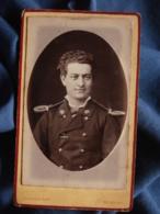 Photo CDV Cousin à Rochefort - Militaire Musicien Infanterie De Marine  Circa 1875-80 L469 - Photos