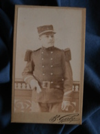 Photo CDV B. Gerby à Toulon - Militaire Sergent 8e Infanterie De Marine  Circa 1895 L469 - Photos