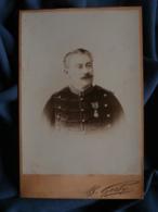 Photo Cabinet B. Gerby à Toulon - Militaire, Officier D'intendance, Médaille Militaire  Circa 1895 L469 - Photos