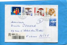 MARCOPHILIE-SUISSE-LETTRE-REC- Pour Françe Cad   -1994  Stamp N° 1464-7 Série Pro Juventute- - Pro Juventute