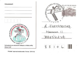 1993 Championnat Junior Féminines De Volley Ball : Zilina (Slovaquie ) Entier Postal - Voleibol