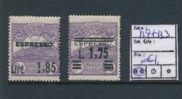 SAINT MARIN SASSONE 129 +133  MNH - Unused Stamps