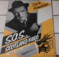 """Dossier De Presse """"SOS Scotland Yard The Long Arm"""" Jack Hawkins Dorothy Alison - Werbetrailer"""