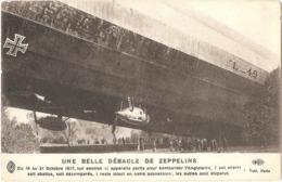UNE BELLE DÉBACLE DE ZEPPELINS - Du 19 Au 21 Octobre 1917, Sur Environ 11 Appareils UN SEUL RESTÉ INTACT - (Éditeur ELD) - Weltkrieg 1914-18