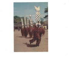 HAUTE VOLTA MASQUES AFRICAINS  DANSEURS BOBO  CARTE  PUB PHARMACEUTIQUE  *** A SAISIR *** - Postcards