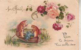Poissons D'avril : 1ér Avril : Poissons Humanisés Et Roses - 1 De April (pescado De Abril)