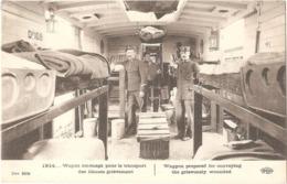 1914... Wagon Aménagé Pour Le Transport Des Blessés Grièvement - (ELD) - Weltkrieg 1914-18