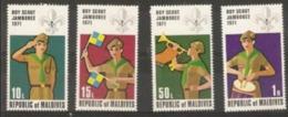 Maldives - 1972 Boy Scouts Jamboree, Japan MH *  SG 412-5  Sc 400-3 - Malediven (1965-...)