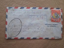 Enveloppe Nicaraguayenne Distribuée Avec Timbre D'échecs - Schach