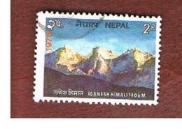 NEPAL  -  SG 325   - 1975  TOURSM: MOUNT GANESH HIMAL     -  USED ° - Nepal