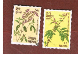 NEPAL  -  SG 396.398   - 1980  HERBS  -  USED ° - Nepal