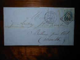 Lettre GC 904 Charonne Seine Avec Correspondance - 1849-1876: Période Classique