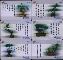 F02064 China Phone Cards Bonsai 6pcs - Fleurs