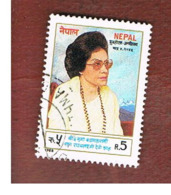 NEPAL  -  SG 454   - 1988  QUEEN MOTHER   -  USED ° - Nepal