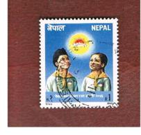 NEPAL  -  SG 513   - 1990  NATIONAL CHILDREN ORGANIZATION  -  USED ° - Nepal