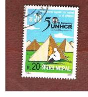 NEPAL  -  SG 750   - 2001 UNHCR ANNIVERSARY -  USED ° - Nepal