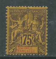 Guinée Française N° 12 X , Type Groupe, 75 C. Violet Sur Jaune,  Trace De Charnière, Sinon TB - Ungebraucht