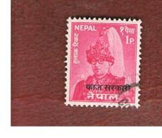 NEPAL  -  SG O148   -   1962 OFFICIAL STAMP: KING MAHENDRA  (OVERPRINTED)  -  USED ° - Nepal