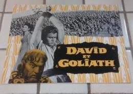 """Dossier De Presse Peplum """"David Et Goliath"""" Orson Welles Eleanora Rossi Drago Pierre Cressoy Richard Pottier - Publicité Cinématographique"""