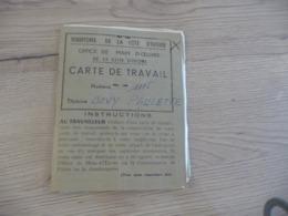 Côte D'Ivoire Officie De La Main D'Oeuvre Carte De Travail + Divers Documents - Documents Historiques