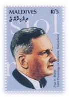 Paul Hermann Müller ORPauly MuellerSwisschemistChemistryNobel Prize In Physiology Or Medicine, MNH Maldives - Medicine