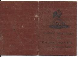 """CERTIFICAT DE GARANTIE CYCLES """" SAVER """" AGENCE GÉNÉRALE 8 RUE VAUBECOUR A LYON 69002 VÉLO BICYCLETTE DATE DE 1925 - Verkehr & Transport"""