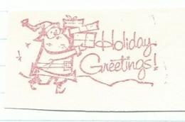 F018 EMA FREISTEMPEL METER Joyeux Noel Season Greetings Christmas Santa Claus CANADA Kitchener 1964 - Kerstmis