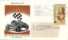 1 Enveloppe Du 25 ème Grand Prix Automobile De Monaco Année 1970 - Cartas