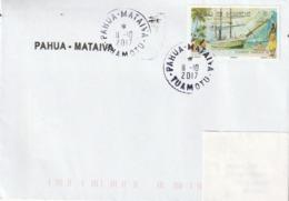 13090  PAHUA - MATAIVA - TUAMOTU - POLYNÉSIE FRANÇAISE - LINÉAIRE - Lettres & Documents