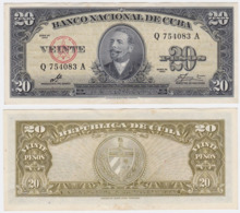 Cuba P 80 C - 20 Pesos 1949 - AUNC - Cuba