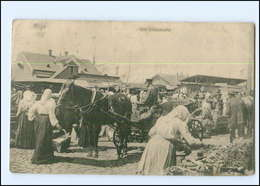 U8730/ Riga  Der Dünamarkt Marktleben Lettland AK 1916 - Lettonia